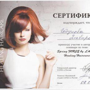 Сертификат Lanza 2015